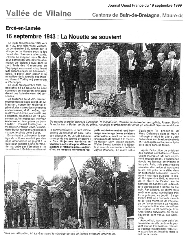 ouest france 19/09/1999