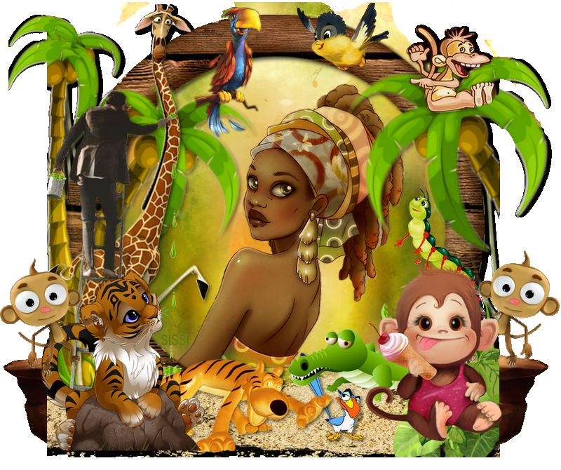 * La jungle  cadre cluster de Baboucheka *