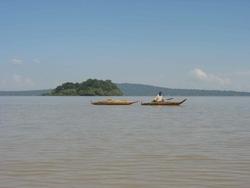 pirogues sur le lac Tana - Bahar Dar
