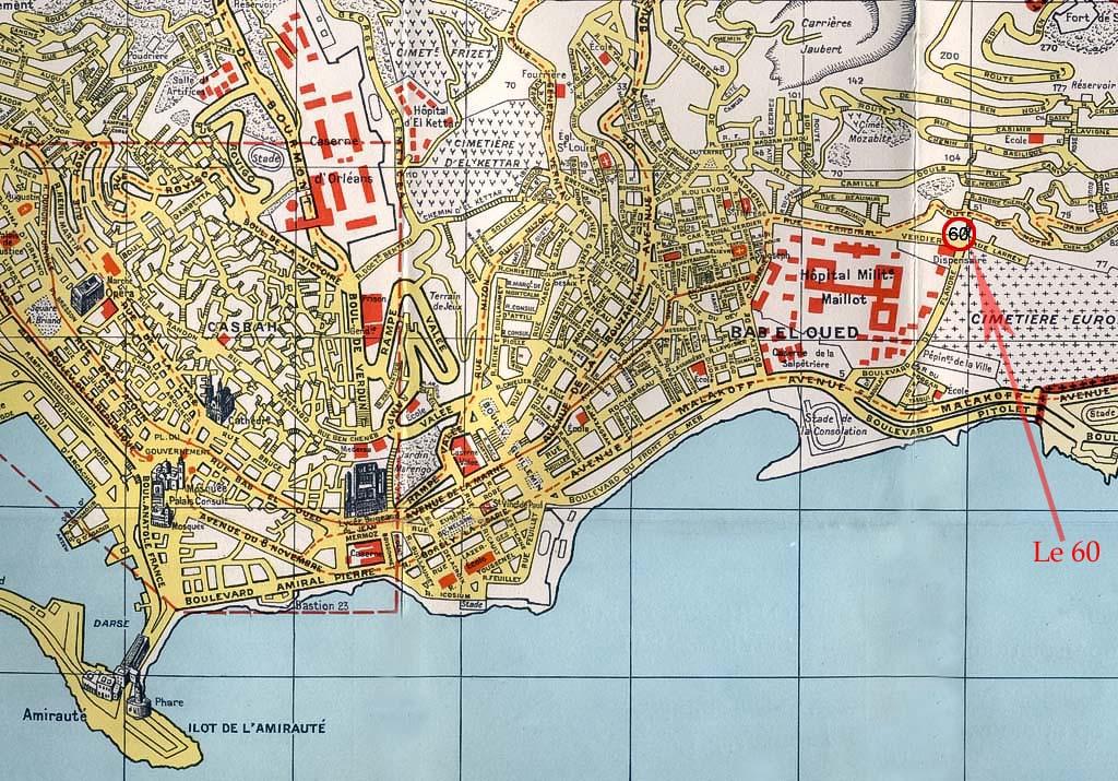 plan d'Alger - 60 rue Cardinal verdier