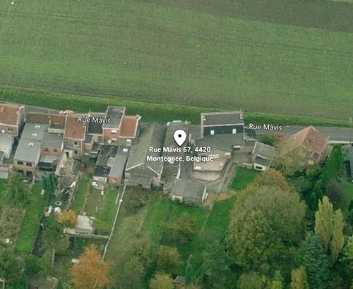Montegnée - vue aérienne de la façade de la rue Mâvis