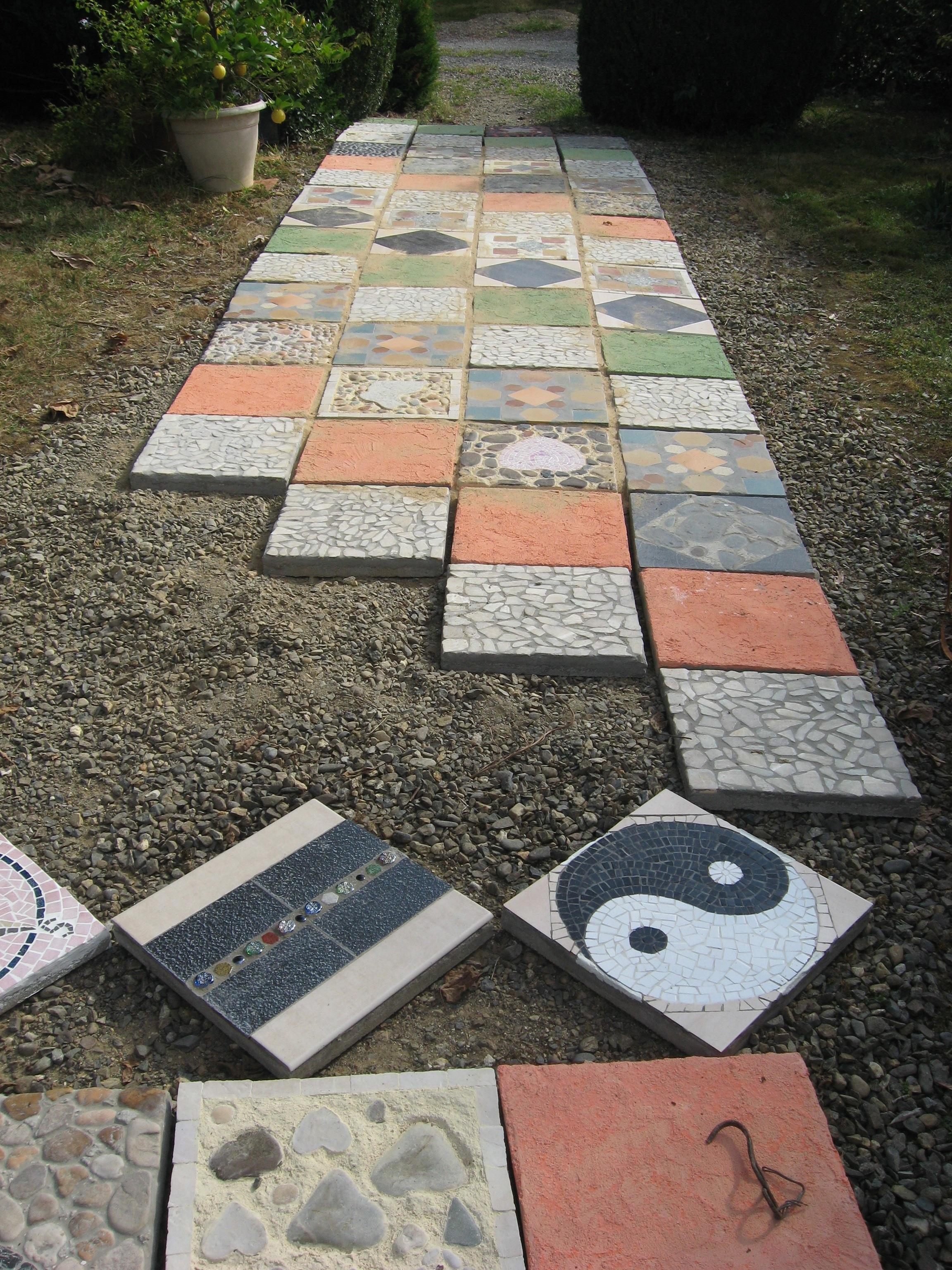 Dalle de jardin en beton