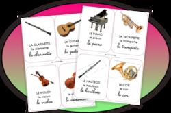 les instruments de musique...