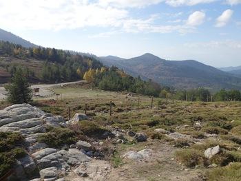 En quittant le Col de Vergio