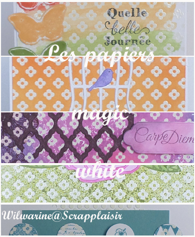Scrap Plaisir - papiers magic white