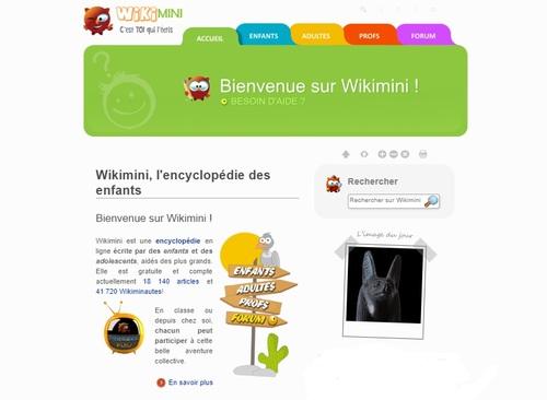 Ecrire sur une encyclopédie en ligne : wikimini