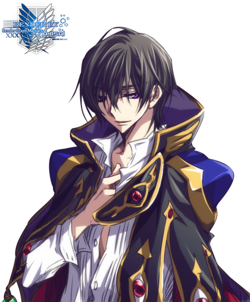 Render Code Geass - Renders Code Geass Lelouch Lamperouge Garcon Cape