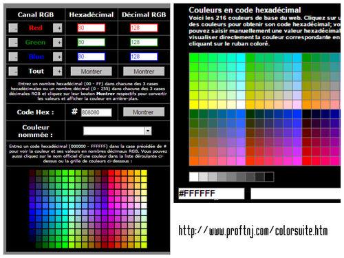Palettes de couleur