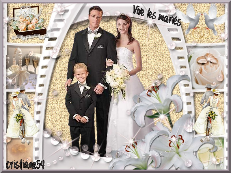 Vive les mariés  pour Monia 50 !