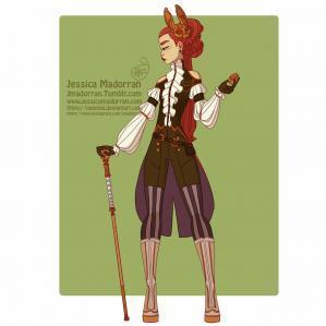 Jessica madorran character design bunny day 03 steampunk 2019 artstation