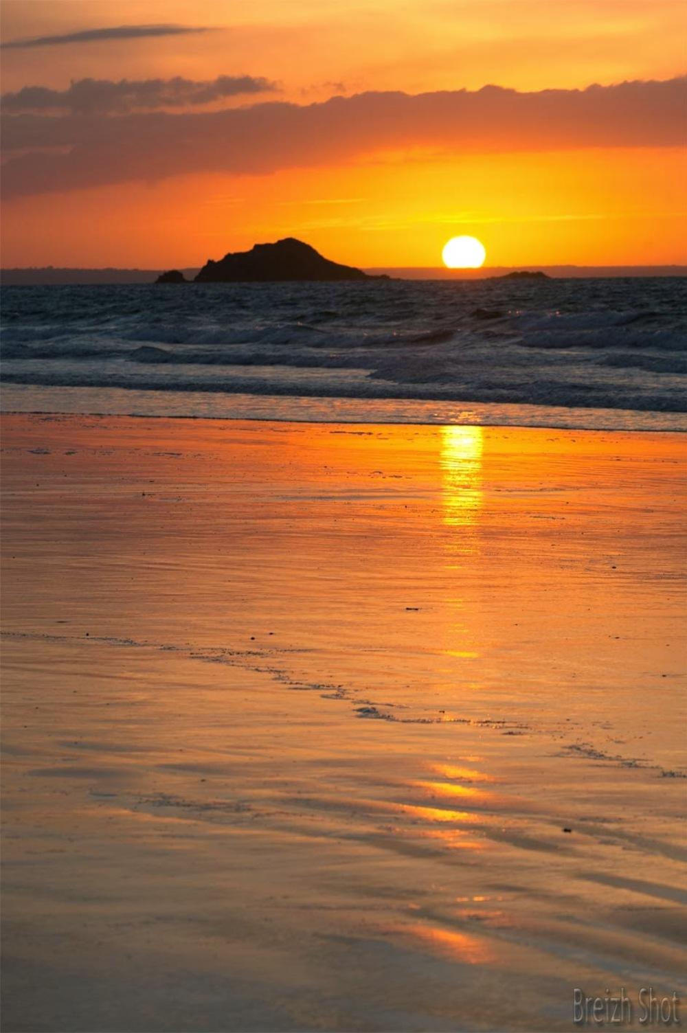 coucher soleil - saint-pabu