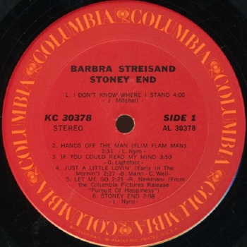 1971 album Stoney end  face 1
