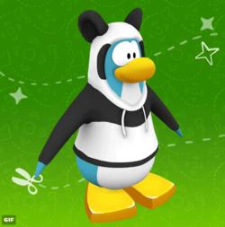 Aperçu : costume de panda sur L'Île de Club Penguin