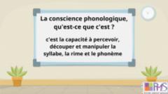 La conscience phonologique en maternelle