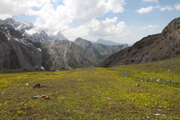Descente du col Alaoudin, Tadjikistan