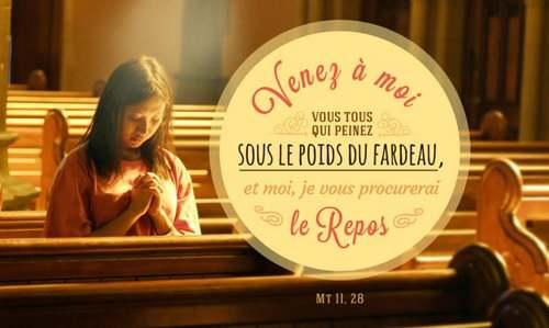"""La pensée du jour : """" Du repos pour votre âme """""""