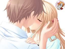 """Résultat de recherche d'images pour """"deux personnage anime s'embrassent"""""""
