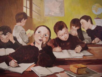 """Résultat de recherche d'images pour """"l'école d'autrefois peinture"""""""