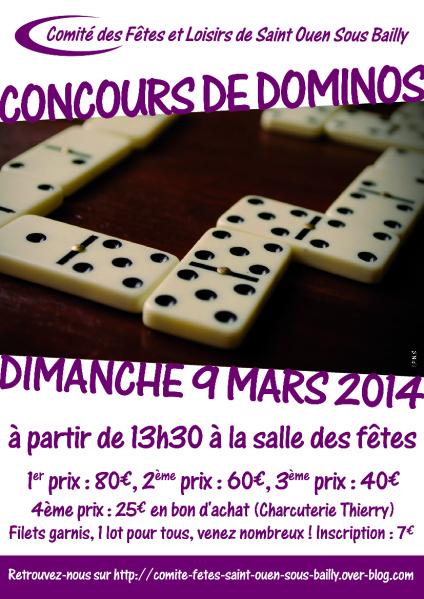 Affiche Dominos 2014