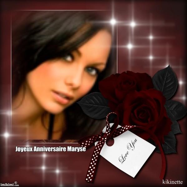 ♥Joyeux Anniversaire Maryse ti'clin d'oeil bisous♥
