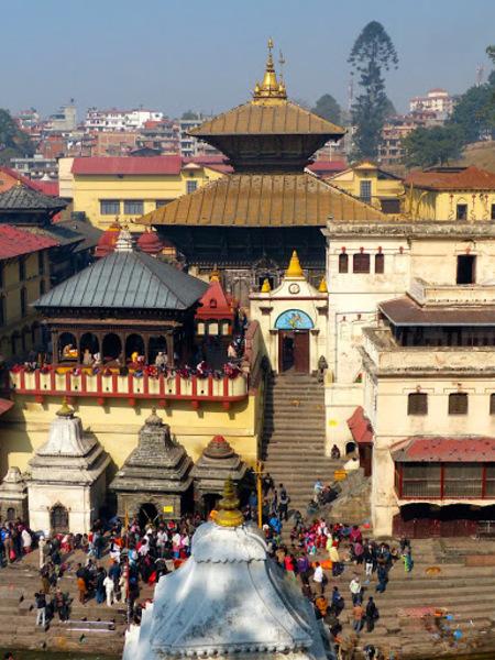 vue générale du temple de Pashupatinath
