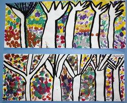 Arts visuels arbres et forêt