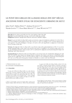 Parution d'un article dans le volume de 2016 de la Revue archéologique de l'Est