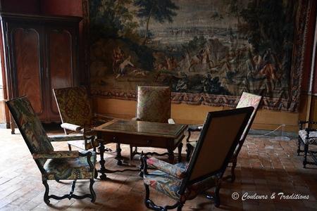 Chateau de Brézé - l'intérieur