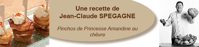 Pinchos de Princesse Amandine au chèvre