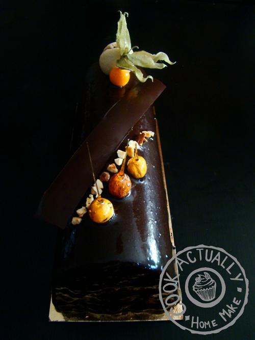 Bûche Chocolat Caramel Croustillant