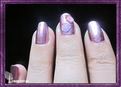 Swatch rose métallisé GIA