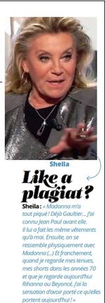 Actualité 2016 Sheila / Message du 05 décembre