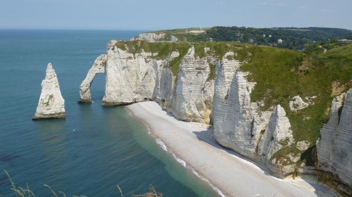 (76) De Saint-Jouin-Bruneval à Etretat, sur le GR21, la plus belle randonnée côtière de Seine-Maritime.