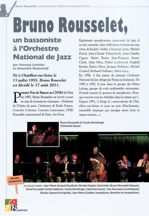 Un très bel hommage à Bruno Rousselet par Alexandre Ouzounoff....
