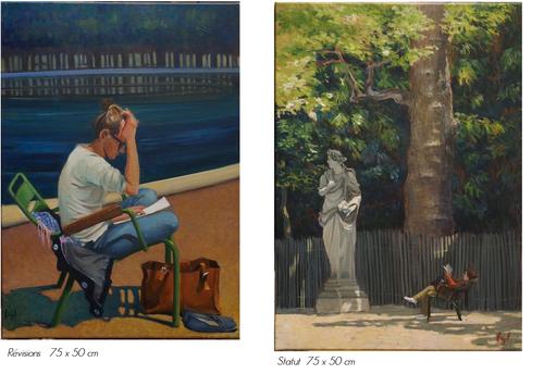 détails des peintures exposées
