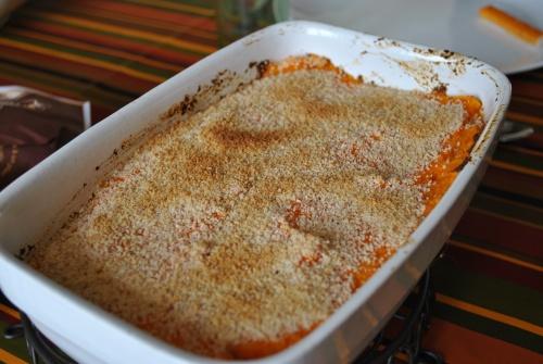 Parmentier de thon à la purée de carottes