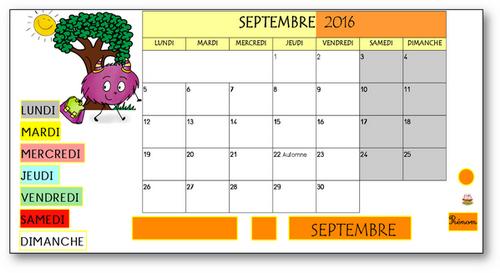 TBI - Rituel de la date-calendrier septembre 2016