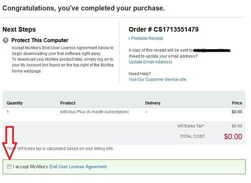 McAfee AntiVirus Plus 2013 - Licence 6 mois gratuits