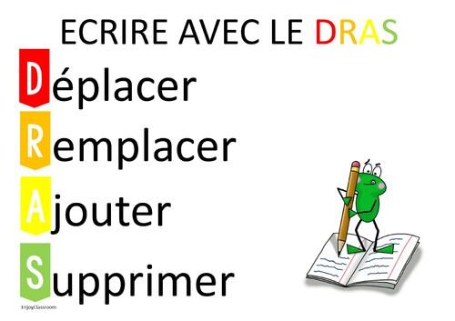 Ecrire avec le DRAS un outil pour améliorer sa production d'écrit.