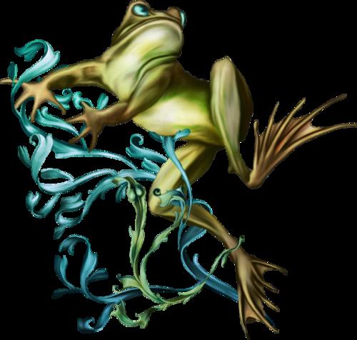 la belle et les grenouilles !   tube de Alehandra Vanhek