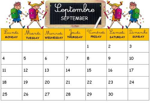 Calendrier, calendar