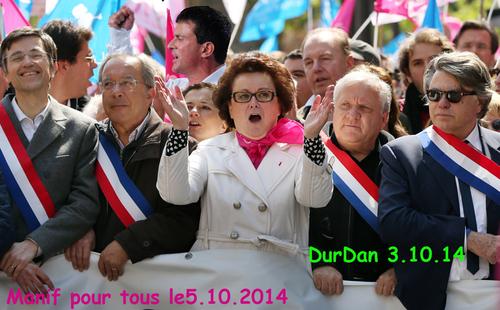 GPA/Manif pour tous/ défilé le 5.10 2014