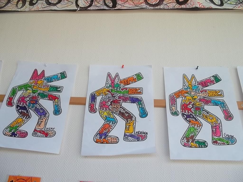 Fabulous Les loups selon Keith Haring - La classe desTout Petits- Petits  NN75