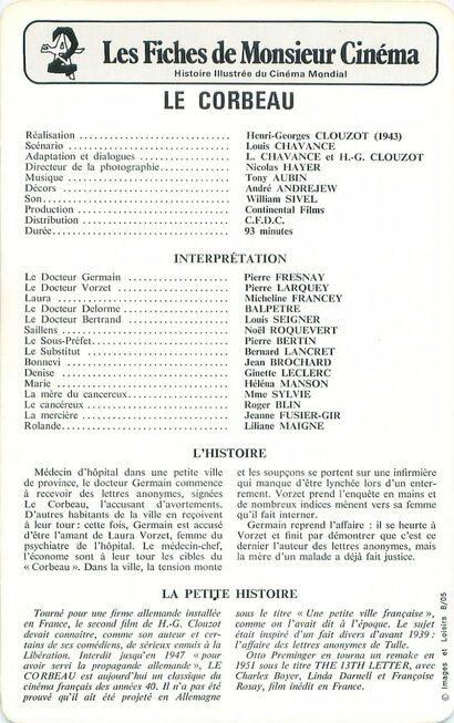 LE CORBEAU - 28 SEPTEMBRE 1943
