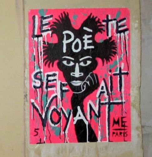 Rimbaud voyant Basquiat street-art