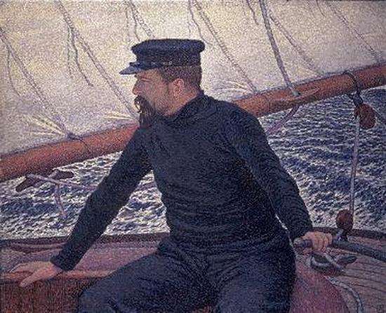 Théo Van Rysselberghe, Paul Signac à la barre de son bateau