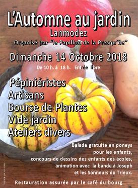 14 OCTOBRE 2018 - L'AUTOMNE AU JARDIN - LANMODEZ