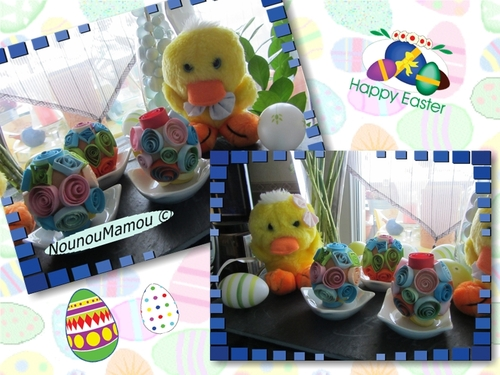 Oeufs de Pâques en quilling