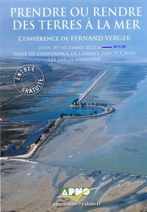 Fernand Verger : Prendre ou rendre des terres à la mer.