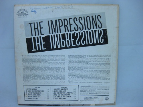 "1963 : Album "" The Impressions "" ABC Paramount Records ABCS 450 [ US ]"